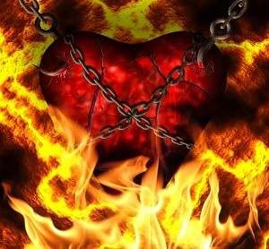 A sexless marriage has a facet absent of God. In essence, inviting evil to reign as a heart wrapped in a chain engulfed in fire.